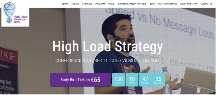 Event page High Load Strategy