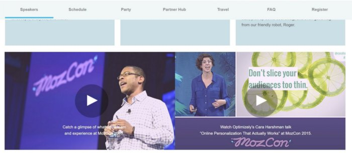 Event page MozCon