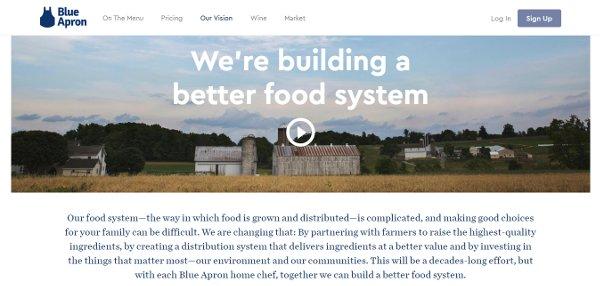 Blue Apron webpage