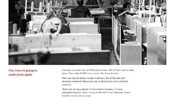 Hiut Denim story webpage