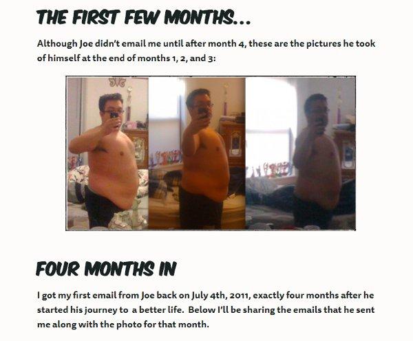 Nerd Fitness webpage Joe's story