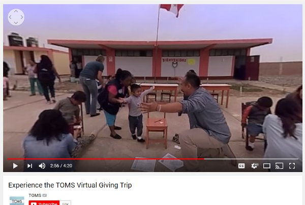 TOMS Virtual Giving Trip YouTube video