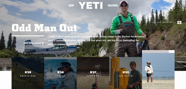 YETI stories webpage