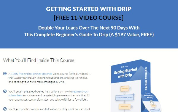 Getting Started With Drip Free Course