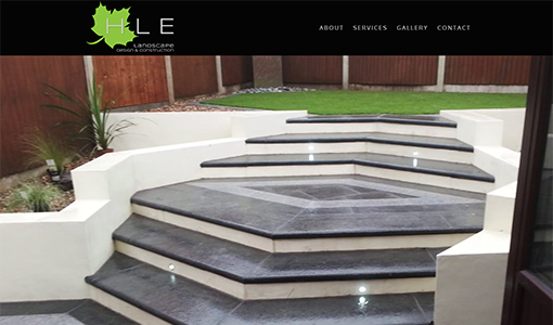 HLE Landscape Design & Construction website