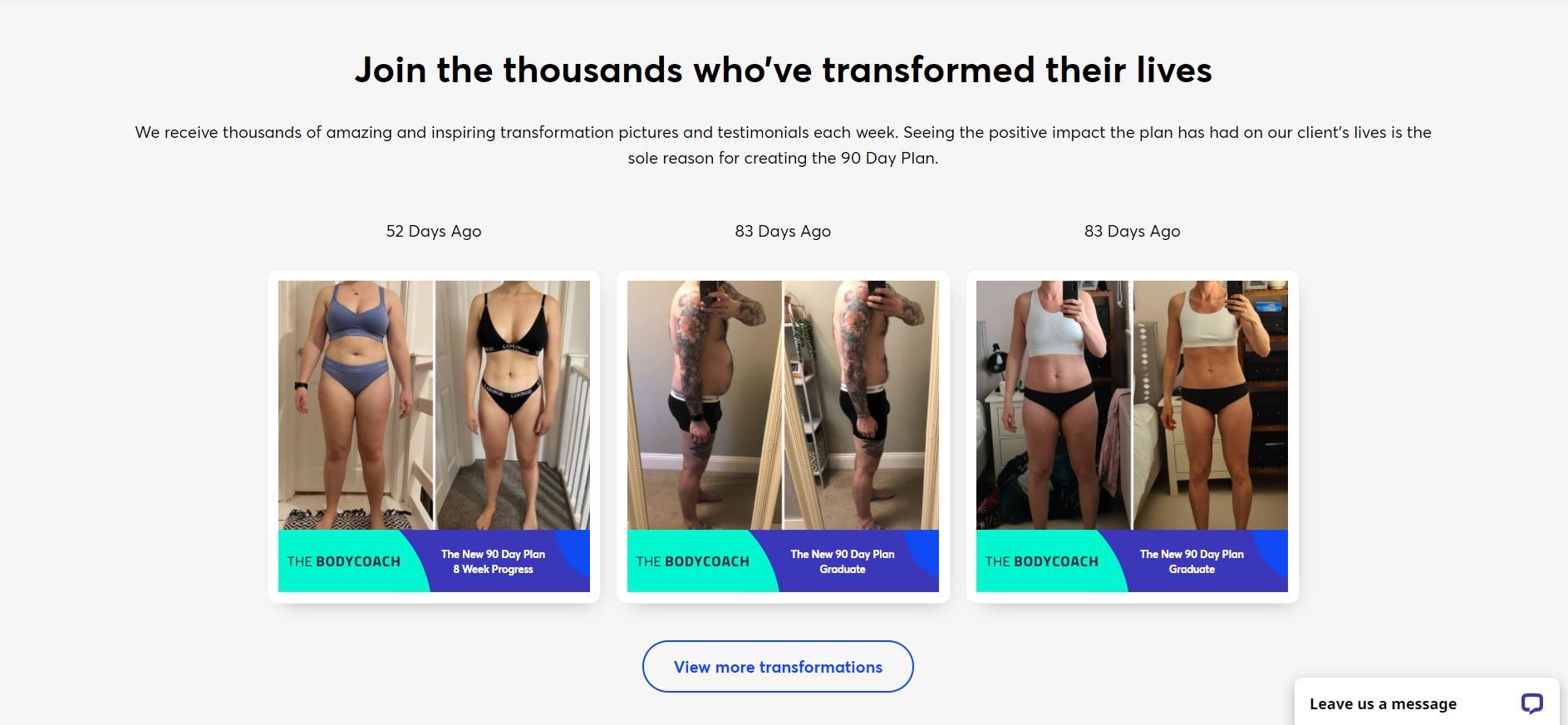 The Body Coach website
