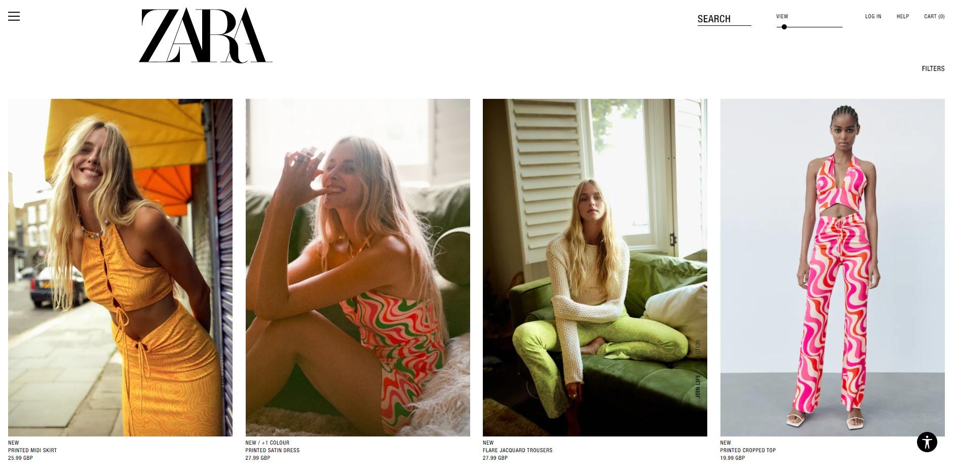 Zara website